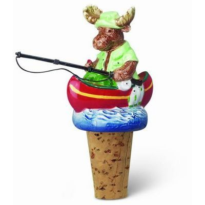 Moose in a Boat Bottle Topper