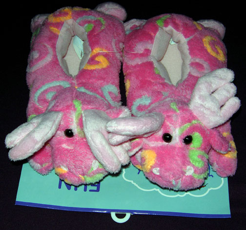 Small Pink Swirl Slippers - Toddler Size